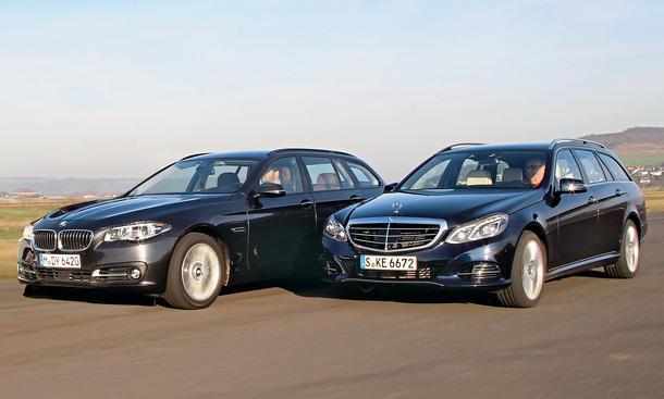 BMW 530d xDrive Touring Mercedes E 350 BlueTEC 4Matic Oberklasse Kombis Markenvergleich Test Bilder