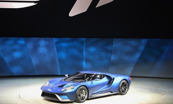 2016 Ford GT 2015 Detroit Auto Show Supersportler Mittelmotor-Sportwagen V6-Biturbo