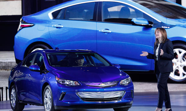 General Motors Chefin Barra Opel Vorbild Messe Detroit 2015
