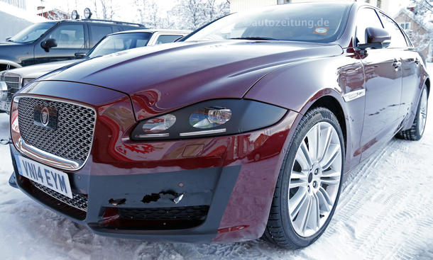 Jaguar XJ 2015 Facelift Erlkönig Bilder infos luxus limousine