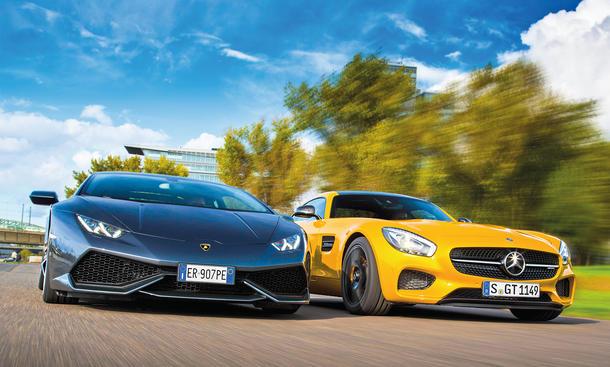 Mercedes-AMG GT S Lamborghini Huracan Vergleich Faszination Supersportwagen Bilder technische Daten
