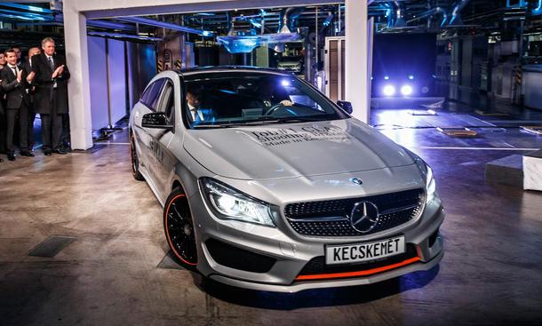 Mercedes CLA Shooting Brake 2015 Produktion Ungarn Kombi Markteinführung
