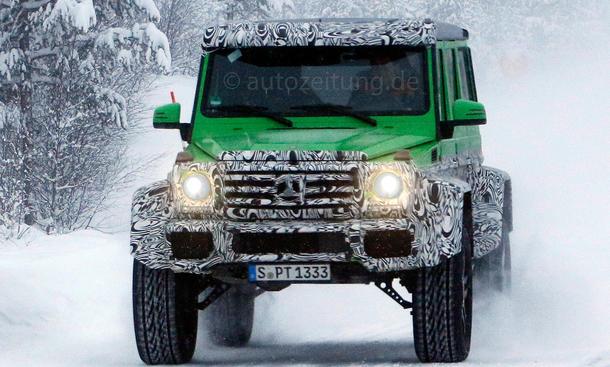 Mercedes G63 AMG 4x4 Erlkönig 2014 Geländewagen SUV grünes Monster