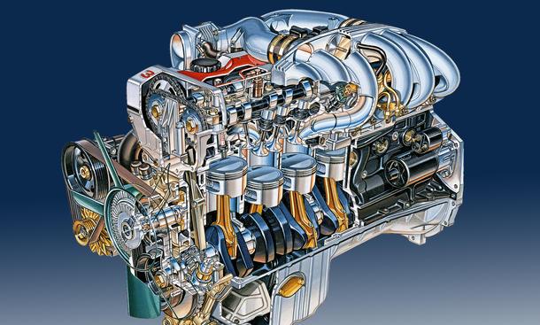 Opel Omega 3000 24V Vierventil-Sechszylinder Motor Technik