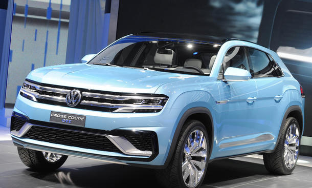 VW Cross Coupe GTE 2015 Detroit MQB SUV Studie Plug in Hybrid
