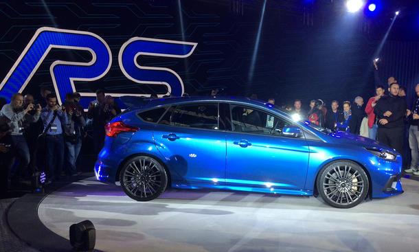 Ford Focus RS 2015 Genfer Autosalon Allrad Ecoboost Vierzylinder Infos Bilder