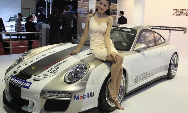 Messegirls Hostessen Schanghai Motor Show 2015 Verbot