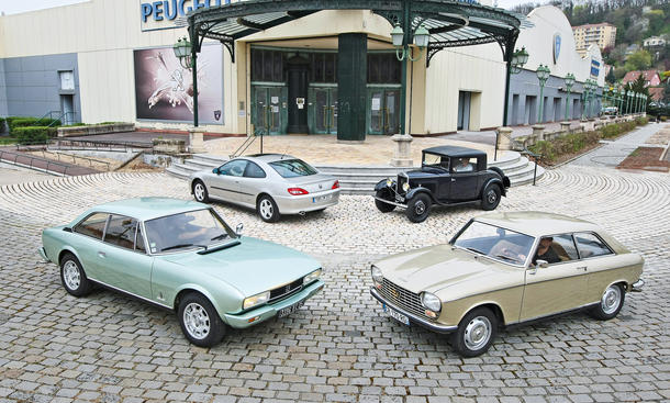 Peugeot 201 204 406 504 Coupe Vergleich Bilder technische Daten