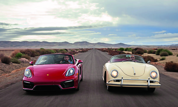 Porsche Boxster GTS 356 1600 Speedster james dean reportage