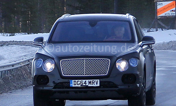 Bentley Bentayga Erlkönig-Fotos Luxus-SUV 2016