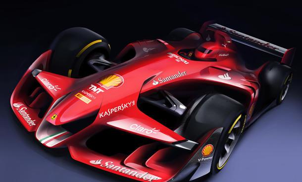 Ferrari Formula 1 Concept 2015 Formel 1-Zukunft Vision Aerodynamik 1000 PS