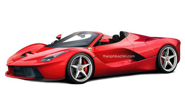 Ferrari LaFerrari Spider Rendering Theophilus Chin Hybrid-Supersportler Bilder