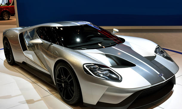Ford GT 2015 Silber Chicago Auto Show Mittelmotor Supersportler