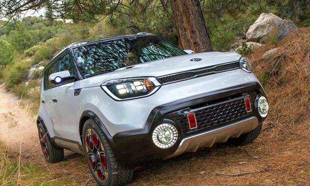 Kia Trailster Concept Studie Hybrid Soul Allrad Chicago Auto Show 2015