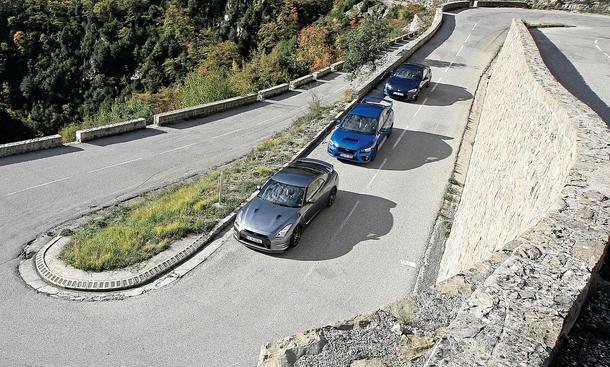Nissan GT-R Subaru WRX STI Toyota GT86 Sportwagen Bilder