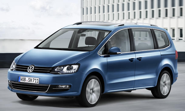 VW Sharan Facelift 2015 Familien Van Genfer Autosalon Motoren TDI