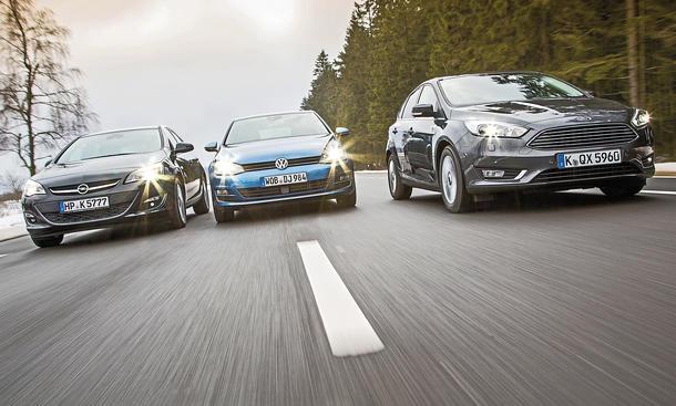 Ford Focus Opel Astra VW Golf Kompaktklasse Vergleichstest