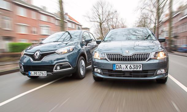 Skoda Fabia Combi Renault Captur Vergleichstest