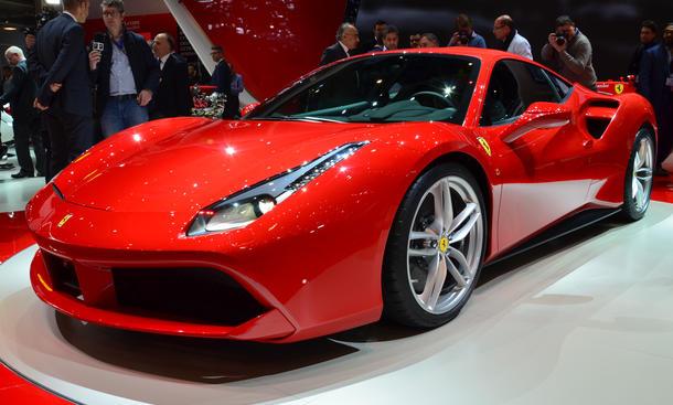Ferrari 488 GTB Genfer Autosalon 2015 Live Bilder Supersportwagen Turbo V8