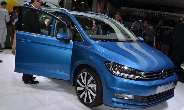 VW Touran 2015 Genfer Autosalon Kompakt-Van Bilder Live