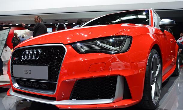 Audi RS 3 Genfer Autosalon 2015 Neuheit Premiere Sportler Kompaktklasse