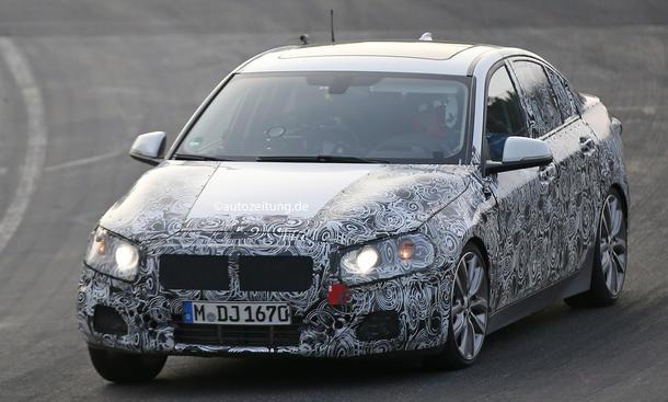 Erlkönig BMW 1er Limousine 2016 UKL-Plattform Frontantrieb