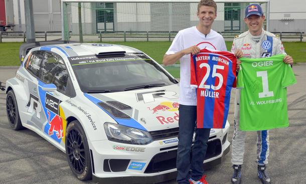 FC Bayern VfL Wolfsburg VW Audi Fußball Sponsoring Thomas Müller Polo WRC
