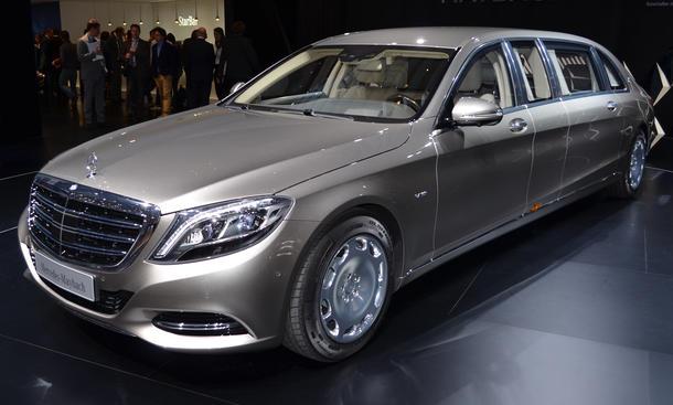 Mercedes-Maybach S-Klasse Pullman Genfer Autosalon 2015 Luxus-Limousine Preis V12 Staatslimousine