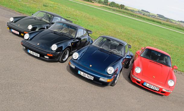 Vergleichstest Porsche 911 Turbo 3.0 3.3 964 993