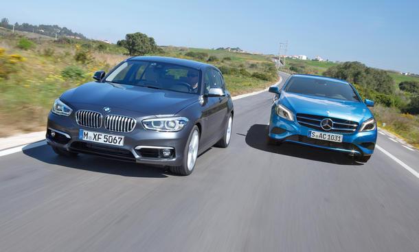 BMW 120d xDrive 2015 Mercedes A 220 CDI 4Matic Kompaktklasse Vergleich