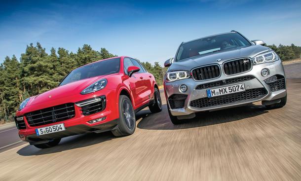BMW X5 M Porsche Cayenne Turbo S SUV Sportler Vergleichstest