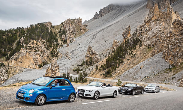 Cabrio-Tour Goodyear Fiat 500C Audi A5 Cabriolet BMW 6er Cabrio VW Golf R Reportage