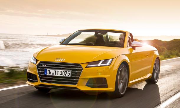 Audi TTS Roadster quattro S tronic Fahrbericht Cabrio Fahraufnahme