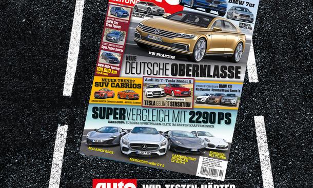 Auto Zeitung 10/2015: Heft-Vorschau Cover Titel