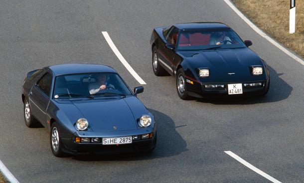 Chevrolet Corvette Porsche 928 S Vergleich Sportwagen