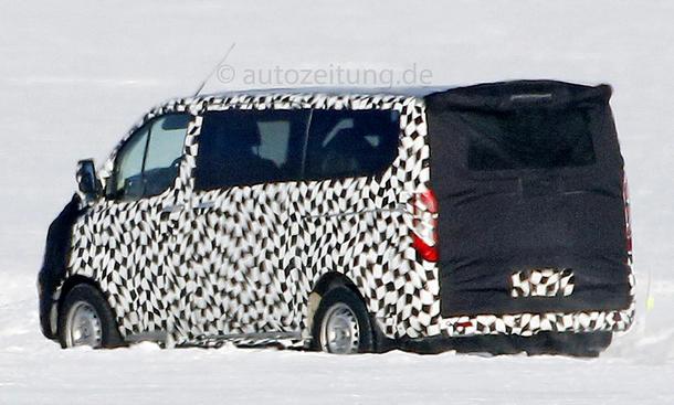 ford transit facelift 2015 erlkönig transporter lieferwagen