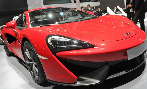 mclaren 540c coupe sports series sportwagen premiere live-bilder schanghai front