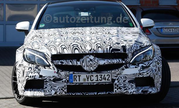 Mercedes C-Klasse Coupé 2015 IAA Erlkönig C 63 AMG V8-Biturbo