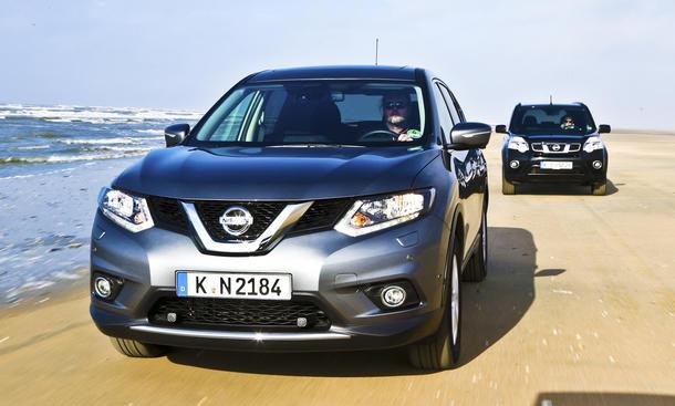 Nissan X-Trail alt gegen neu Vergleich Reportage SUV Diesel Bilder