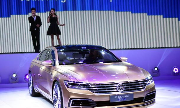 VW C Coupé GTE 2015 Shanghai Motor Show Phaeton Luxus-Limousine