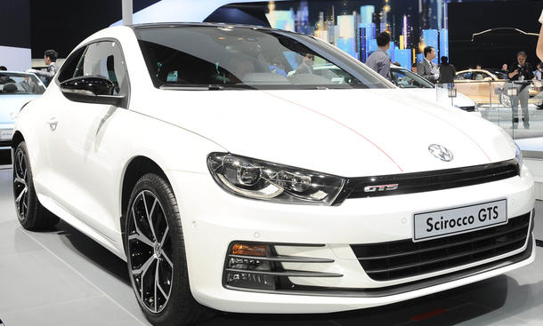 vw scirocco gts 2015 kompaktsportler front premiere auto china shanghai live-bilder