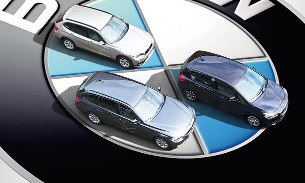 BMW X1 sDrive18i BMW 316d Touring BMW 218i Active Tourer Karosseriekonzept Vergleichstest