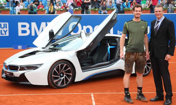 Andy Murray BMW i8 Tennis Turniersieg ATP München Hybridsportler
