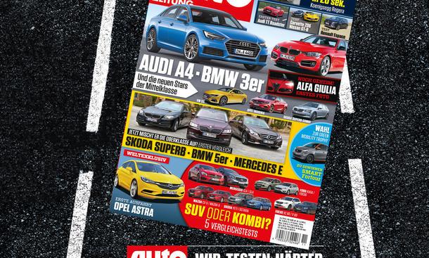 Auto Zeitung 11/2015: Heft-Vorschau Cover Titel
