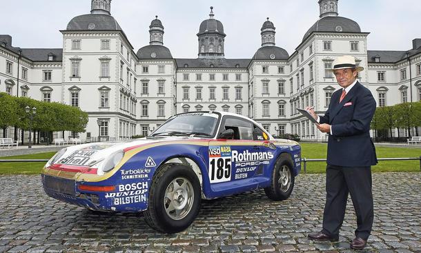 Bensberg Jacky Ickx Porsche 959 Rallye Paris-Dakar Reportage