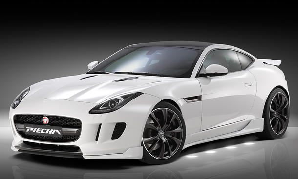 jaguar f type evolution coupe tuning piecha bodykit spoiler v6 diffusor verbreiterung