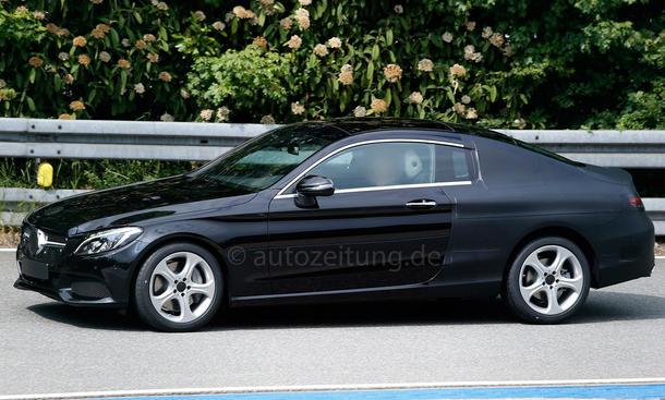 mercedes c-klasse coupé 2015 erlkönig c205 neuheiten mittelklasse prototyp