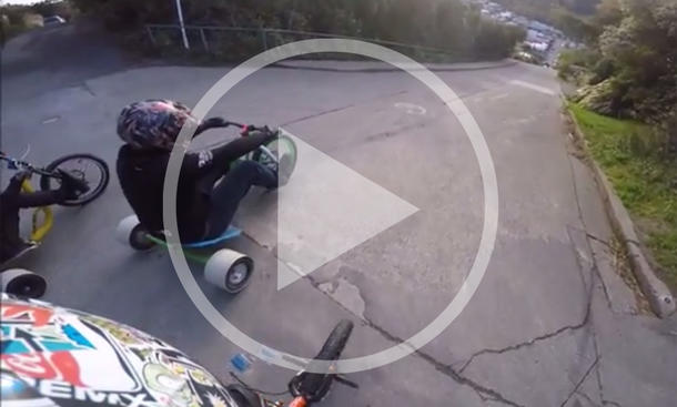 Video: Drift Trikes auf der Baldwin Street