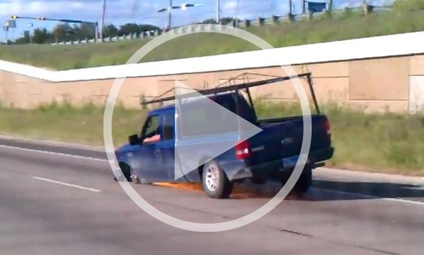 Pickup Reifen-Fail