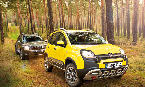 Wonderlijk Fiat Panda 4x4 Cross vs. Dacia Duster: Günstige SUV im Vergleich | YZ-02